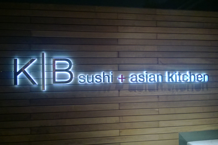 <strong>K|B sushi & asian kitchen<span><b>in</b>Reverse Channel Letter </span></strong><i>→</i>