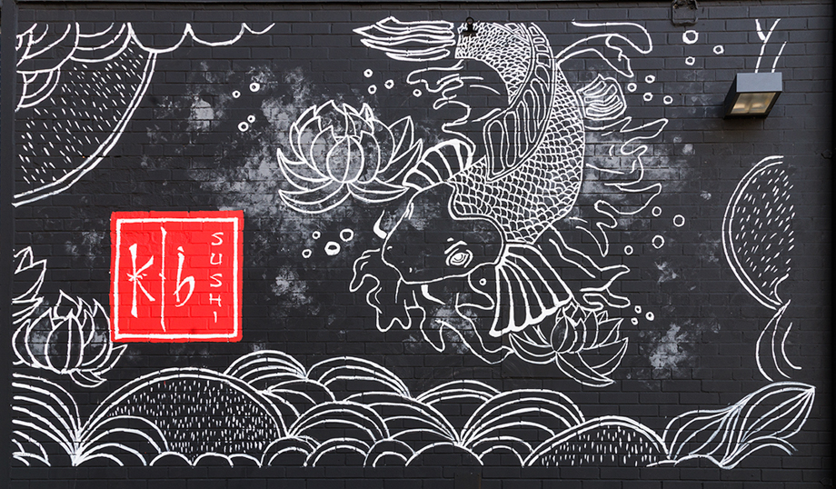 <strong>K|B sushi & asian kitchen<span><b>view larger</b></span></strong><i>→</i>