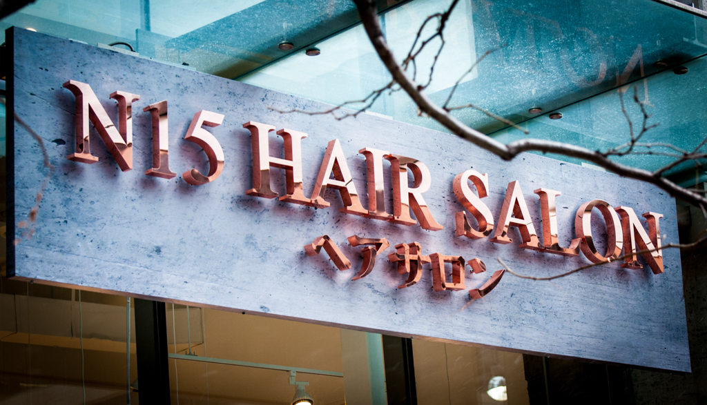 <strong>N15 Hair Salon<span><b>in</b>Reverse Channel Letter </span></strong><i>→</i>